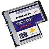 DONZO BC718 Express Card zu 3 Port USB 2.0 54 mm Adapter mit FL1100 Chipsatz