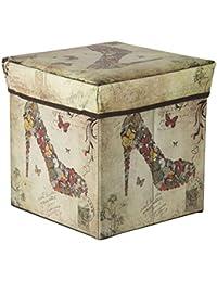 Portable & Foldable Laundry Box Cum Sitting Stool Folding Stool Sandal Pouffe/Sitting Stool/Stool/Pouffes For...