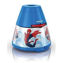 Philips Spiderman Projektör Gece Lambası, Watts, Mavi
