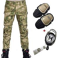H Welt EU - Pantalones militares del ejército táctico, para airsoft o paintball, pantalones de lucha para hombre con rodilleras, color AT-FG, tamaño large