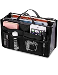 Ladies Tidy Travel Insert Handbag Cosmetic Organiser Purse Large Liner Bag Pouch by Kayear, 7 Colors Available