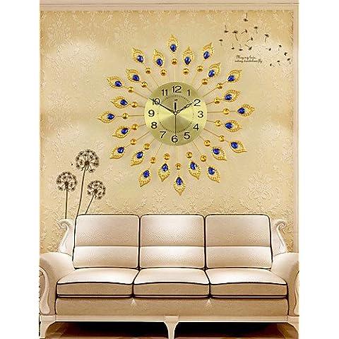 Da Wu Jia wall arte moda creatività Mute in metallo orologio da parete