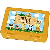 Brotdose mit Namen Helge - Motiv Zoo, Lunchbox mit Namen, Frühstücksdose Kunststoff lebensmittelecht preisvergleich bei kinderzimmerdekopreise.eu