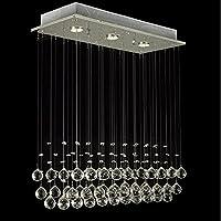Glighone Lámpara Colgante 3 LED 50W Lámpara de Techo Luz Moderna Cristal Lámpara de Araña Iluminación Contemporáneo Elegante, Blanco Cálido