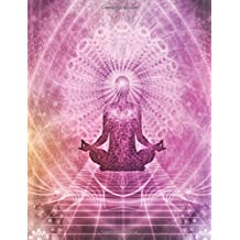 Blank Book Journal: Yoga Meditation MATTE Non-Glossy Cover Notebook: 8.5 x 11 size, 120 gray lined pages, WIDE Ruled!