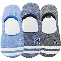 Preisvergleich für Maivasyy 3 Paar Socken Boot Socks Frauen unsichtbar Silikon Rutschhemmend kurze Damen Frühling Sommer Socken, Blau + Blau + Schwarz