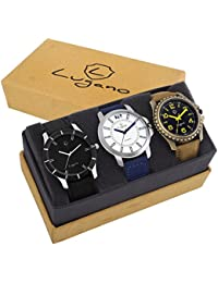 Lugano DE1078 Combo Of LG 1001+LG 1038+LG 1028 Analog Watch For Men/Boys Watch - For Men