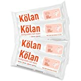 Kolan Eco-Friendly Biodegradable Bed Bath Wet Wipes With Aloe Vera, Olive Oil & Vitamin E, 10 Wipes/Pack (Pack Of 4)