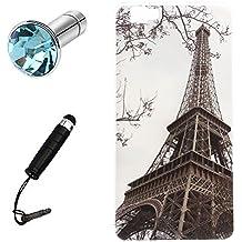 Lusee® Funda de silicona para Cubot X15 5.5 Suave Cascara TPU virtual tour Eiffel