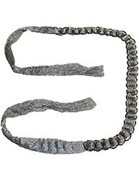 Cinturón plateado con aros metálicos