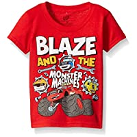 Blaze and The Monster Machines Toddler Boys' Short Sleeve T-Shirt Shirt, Red Blaze, 3T