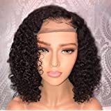Jessica Hair 370 Lace Front Wigs Human Hair Wigs For Black Women Deep Part Short Bob Wigs Curly Brazilian Remy Hair Pre Pluck