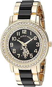 U.S. Polo Assn. USC40229 Women's Quartz Watch, Analog Display and Stainless Steel S