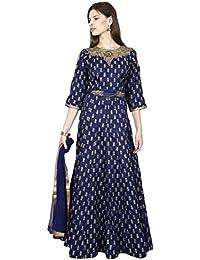 Manmandir Womens Cotton Silk Anarkali Readymade (Salwar Suits for Women)