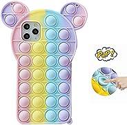 Arrival Phone Case, Pop Fidget Reliver Stress Toys Push Pop Bubble Protective Phone Case, Silicone Shockproof