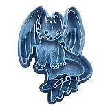Cuticuter CGDESDENTAOCUERPO Tandloze Body Hoe je Dragon Cookie Cutter, Blauw, PLA trainen