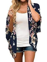 DEELIN Kimono Grande De Gasa Abierto 2018 Primavera OtoñO Mujeres Floral Impresa De Gasa Kimono Cardigan