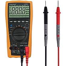 Rango Automático Multímetro Digital, Proster Multímetros Amp/ Ohm / Voltímetro Digital, Multi Tester con la Prueba de la Capacitancia y de la Temperatura
