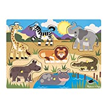 Melissa & Doug Safari Wooden Peg Puzzle (7 pcs)