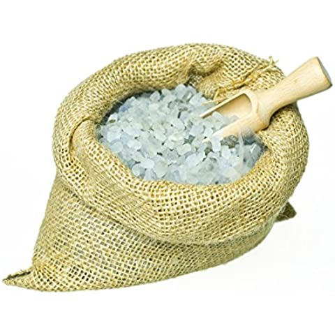 Sal de baño - Bath salts with cedar (1500 g) in a jute bag with a wooden scoop. Unique packaging! Particularly suitable for hot tub, jacuzzi and whirlpool Sal de baño -