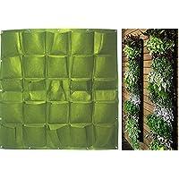 Macetero YINO con bolsillos para jardín vertical, verde, 25 Bags