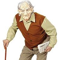 NET TOYS Travestimento da Nonno Costume Uomo Anziano XL 54 - Camuffamento da  Vecchio Outfit da edb783ee4173