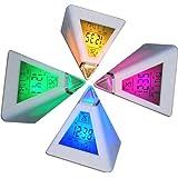 DIGIFLEX Réveil horloge digitale pyramide avec 7 LED aux couleurs changeantes