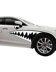 ABBY GM modèles bouche de requin autocollants de voiture tirer passer un grand requin blanc Pâte de couleur du corps de voiture