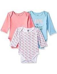 MINI KLUB Baby Girls' Regular Fit Bodysuit (Pack of 3)
