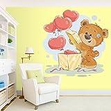 StickMe 'Teddy Bear Wall Sticker' - SM 002 ( PVC Vinyl - 100cm X 100 Cm )