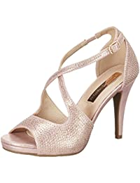 XTI Nude Metallic TeXTIle Ladies Shoes - Sandales à talons femme