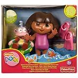 Mattel K8971 - Muñeca de Dora la Exploradora y Botas para baño