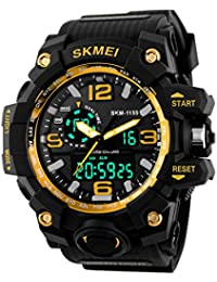 Skmei Analogue-Digital Black Dial Men's Watch - Skmeimw40