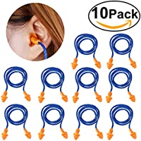 Nuolux Ohrstöpsel aus Silikon, Gehörschutz mit Kordel, wiederverwendbarer Ohrstöpsel, 10Paar preisvergleich bei billige-tabletten.eu