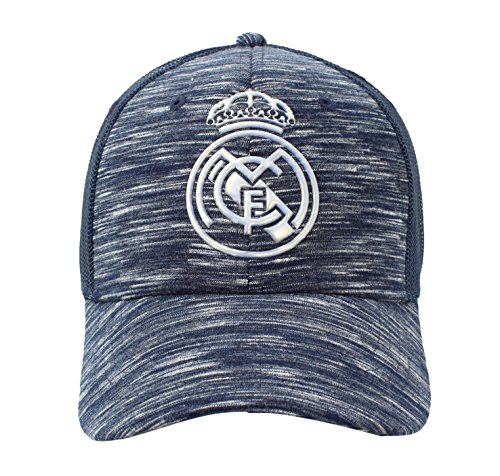 Gorra Oficial Real Madrid CF - Azul Jaspeado Rejilla