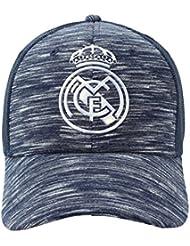 Gorra Oficial Real Madrid CF - Azul Jaspeado Rejilla - Tallaje Adulto