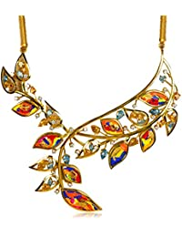 Miranika Gold Plated Pendant for Women (Multi-Colour)(C1D25ABSC1)