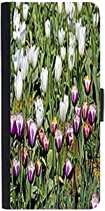 Snoogg Colorful Tulips Designer Protective Phone Flip Case Cover For Lenovo Vibe S1