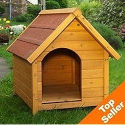 –Caseta de perro resistente y atractivo Exterior Caseta de perro