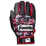 Franklin Sports MLB DIGITEK Guantes de bateo, Hombre, Gray/Black/Red Digi
