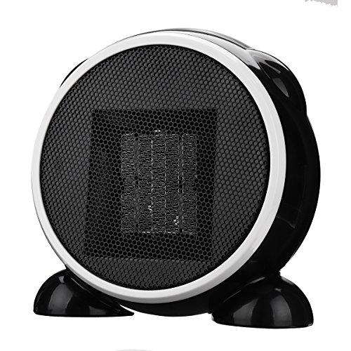 SAFETYON Handy Heater 500W Elektrische Heizung mini Heizgerät mit Timer Thermostat, Keramik Heizlüfter für die Steckdose EU (Tragbare Mini-wasser-heizung)