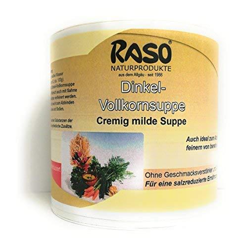 Dinkel Vollkorn Suppe VERSANDKOSTENFREI - Dinkel Suppe - salzreduziert BEWÄRTES RASO Suppen Rezept - (300g.) kalorienarme Suppe zum abnehmen ohne Hefeextrakt, ohne Geschmacksverstärker