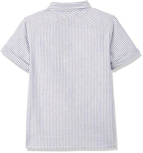 RED WAGON Jungen Hemd Ticking Stripe Shirt, Weiß (White), 128 (Herstellergröße: 8 Jahre) - 2