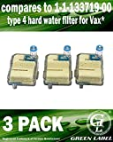 3 Pack Hard Water Filter (Type 4) For Vax Steam Fresh Combi Steam Cleaners (compares to part # 1113371900)