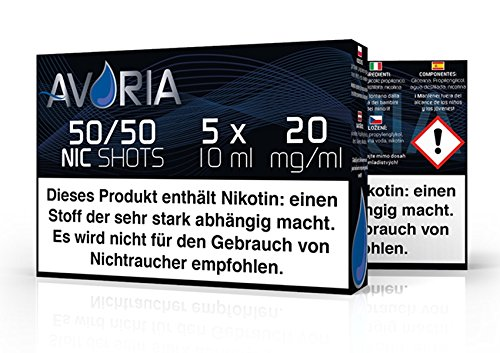Avoria Nic Shot 5x10 ml Base 50/50 20mg Nikotin