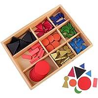 PETSOLA Material De Lenguaje Montessori: Símbolos Gramaticales De Madera Básicos con Caja para Niños Educación Temprana