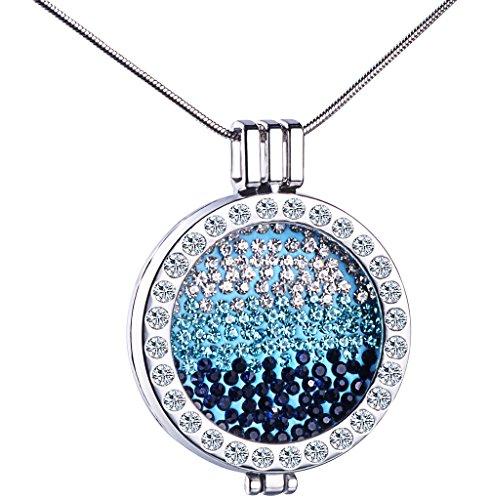 Unendlich U Damen Halskette Hohle Herzen Legierung Kristall