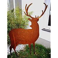 Edelrost Garten Hirsch Rost Figuren Garten Tier Rost Hirsch 031858 35*1.5*105cm