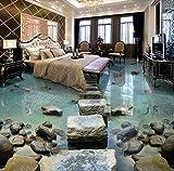 DDBBhome Moderne Benutzerdefinierte 3D Boden Wandbild Seaside Pier Bodenbelag Fliesen Boden Malerei Nicht, Slip Wasserdicht Selbst, Kleber PVC Tapete, 200X100 cm