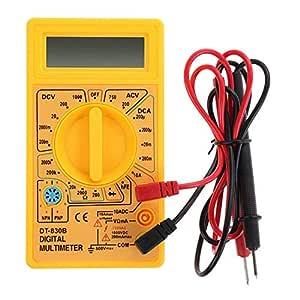 Kingnew Digital Multimeter Ac Dc Voltmeter Dc Amperemeter Ohm Tester Elektrische Lcd Digital Multimeter Gelb Baby